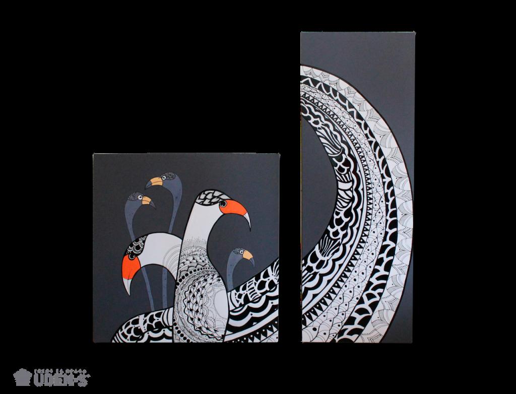 Керамические дизайн-обогреватели UDEN-S «Крылатая история» (диптих)