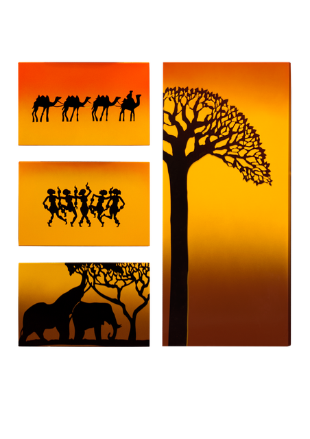 Керамический дизайн-обогреватель UDEN-S «Африка» (квадриптих)